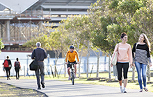 USC has constructed pathways to encourage students and staff to cycle or walk