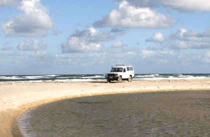 A permit is required for driving on Fraser Island.
