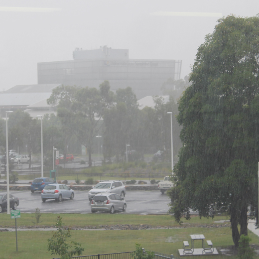 Heavy rain associated with Cyclone Marcia