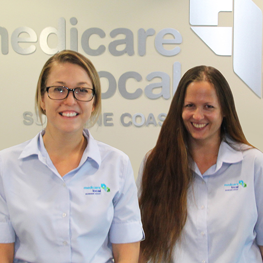 Nicole and Kristel in uniform at Medicare Local Sunshine Coast