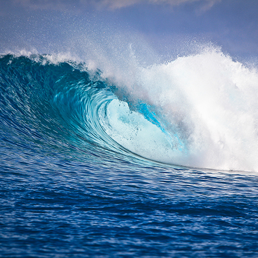 Photograph of a surf barrel by Wil Aguiar