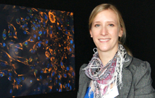 Corinna Burgin-Maunder with her entry in the 2013 Art in Research competition