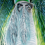 Artwork: Phyllis Araneo, Royal Palm Green Man, oil on canvas, 2005.