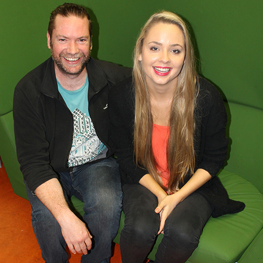 USC students Simon Doonican and Alysse Skilton ready for Startup Weekend 2015