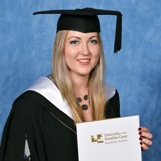 Lauren Nesbitt in her graduation gown