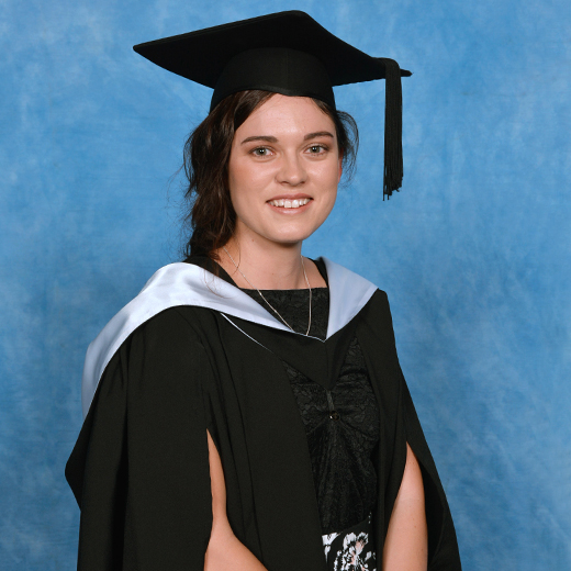 Sarsha Pincini in her graduation gown