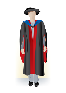 Professional doctorate academic dress, front
