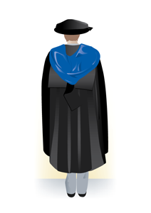 Professional doctorate academic dress, back