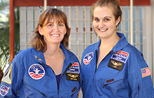 Sheva Butler and Amy-Louise Peen back from Space Camp