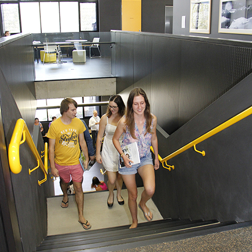 Students on their way to classes at USC Gympie