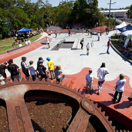 Nambour District Skate Park and Youth Activity Precinct. Image by skatespots.com.au