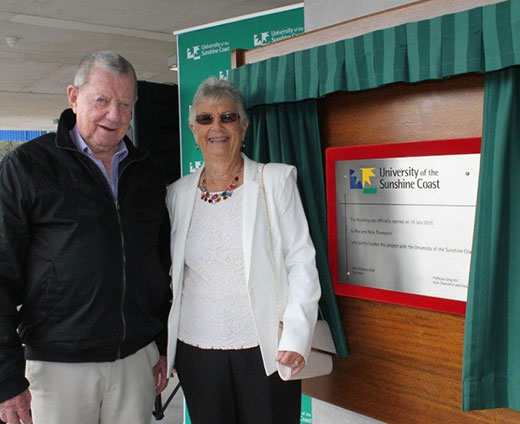 Roy and Nola Thompson at the opening of the Multi-level car park