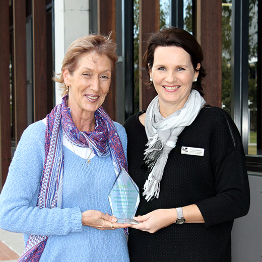 Sonia Project Officer Frances Martin and Faculty Work Integrated Learning Coordinator Sonya Smith were part of the team awarded for their expertise with the Sonia work placement software.