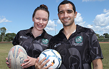 USC's team captains Shannen McLean and Don Wearne gear up for the Australian University Games.