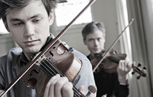 Australian String Quartet members Kristian Winther on violin and Stephen King on viola will soon play at USC