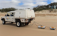 USC researchers conduct ground penetrating research on Fraser Island
