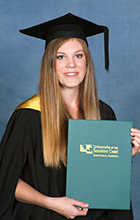 USC graduate Kathryn Stevens has landed a job interstate after completing her degree. Photo supplied by Silver Rose Photography
