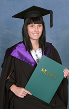 USC graduate Klrissa Streeter has already started her Honours degree. Photo supplied by Silver Rose Photography