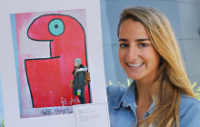 USC student Tehlia Colless-White's snap of colourful artwork on the Berlin Wall East Side Gallery won her the Vice-Chancellor and President's Choice Award in USC's first GO program photo competition