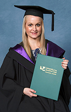 USC Bachelor of Biomedical Science graduate Maddie Williams has landed a job. Please credit photo to Silver Rose Photography