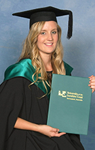 USC Cairns Graduate Alicia De Paoli. Image supplied by Silver Rose Photogrpahy