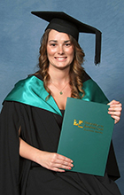 Bribie Island resident Jessica Eaton graduated from USC recently. Photo supplied by Silver Rose Photography