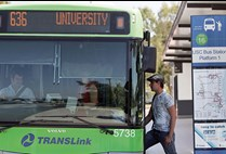 Student boarding bus