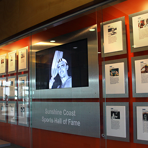 The Sunshine Coast Sports Hall of Fame at USC.