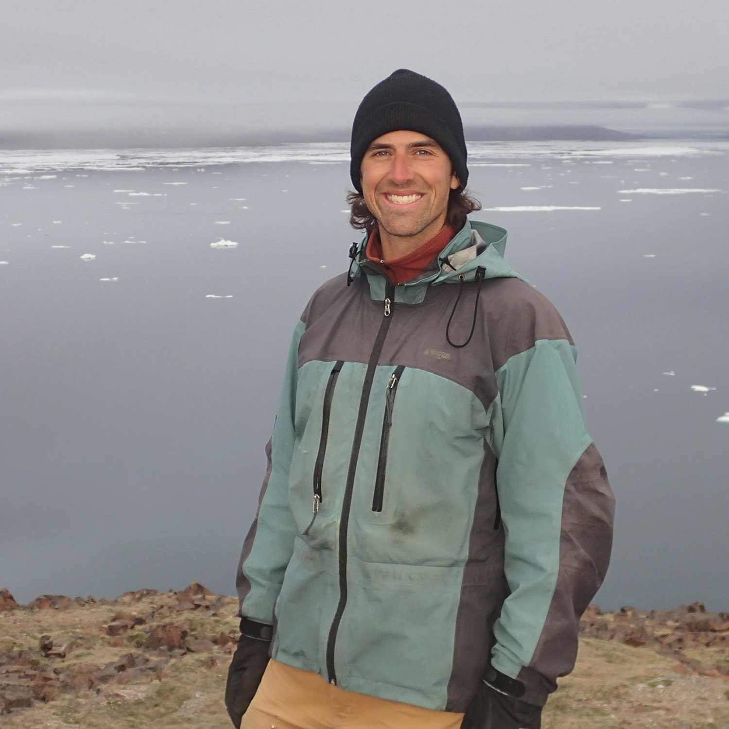USC Research Fellow Dr Tristan Pearce in the field in Canada.