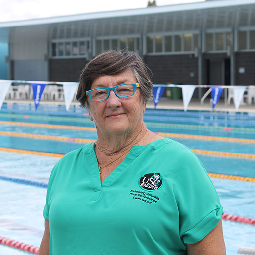 High-performance Paralympic swimming coach Jan Cameron.