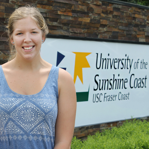 Catherine Sugget, new Nursing Science student at USC Fraser Coast