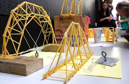 Spaghetti bridge competition for Engineering students