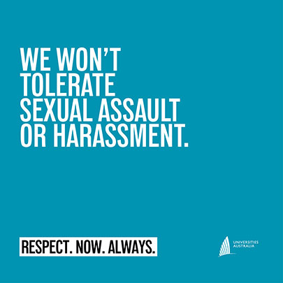 We won't tolerate sexual assault or harassment