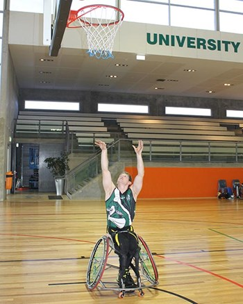 Wheelchair basketballer