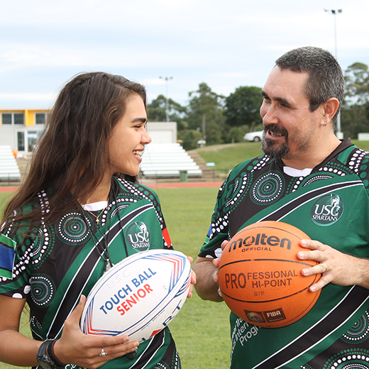 USC students Leilani Clarke and Robert Denyer are getting ready to compete at the Indigenous Unigames.