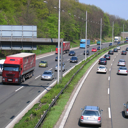A German autobahn. Photo credit: Federal German Highway Research Institute.