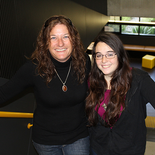 Deborah Barry and her 17-year-old daughter Sarah will both begin USC's Tertiary Preparation Pathway program later this month.