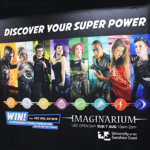 Visitors to USC's Imaginarium have been encouraged to dress as superheroes
