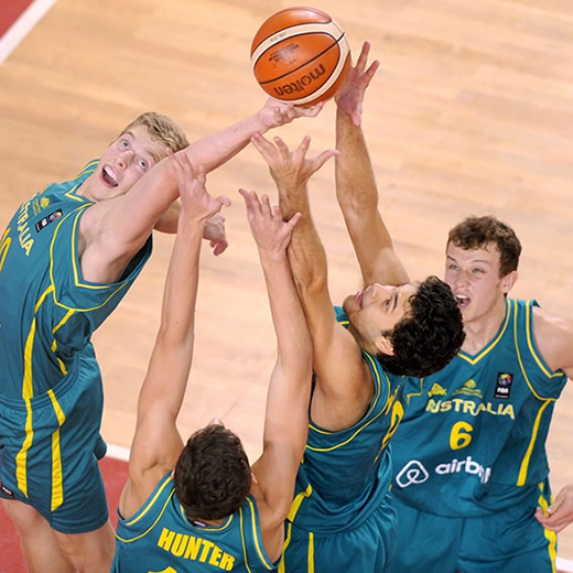 The Australian Emus Under 19 basketball team. Photo: FIBA