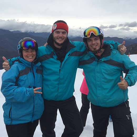Gian-Luca Reinhard, Ramona Winiger and Thomas Nafzger were the first USC students to compete at the Snow Unigames.