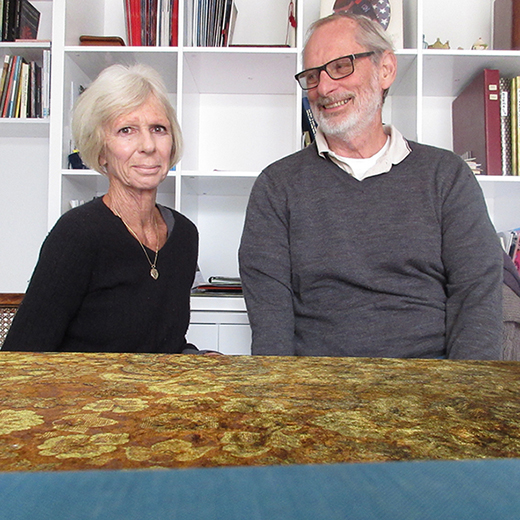 David Utting, 71, and his wife Susie, 69, both now have USC doctorates.