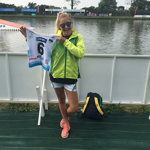 USC Design and Marketing student Jessica Schmidt, 19, was selected for the World Water Ski Unigames.