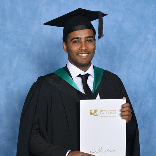 University of the Sunshine Coast graduate Naresh Kumar