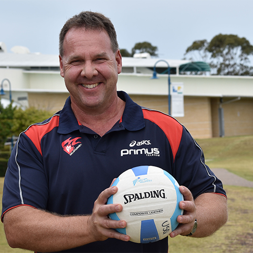 Lecturer in Sport Studies Dave Robinson at USC Fraser Coast