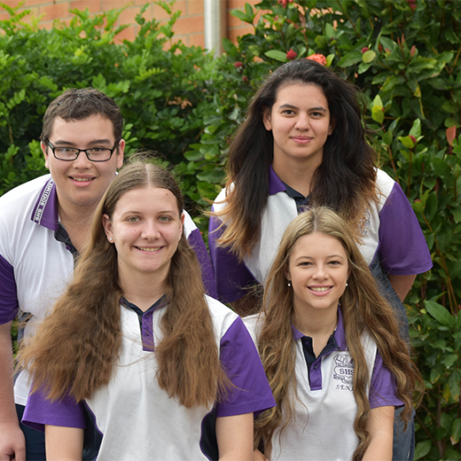 Aldridge State High School students Nettie Sillitoe, Lindsay Massey, Ashley Vicic and Artemio Clifford.