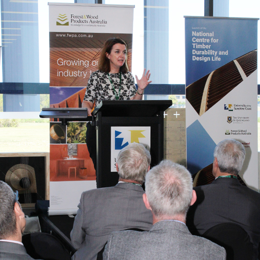 Federal Assistant Minister for Agriculture and Water Resources Senator Anne Ruston officially launches the National Centre for Timber Durability and Design Life at USC