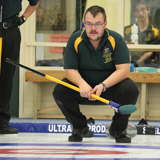 SC student Grant Hamsey, 21, will travel to Europe for the World Junior B Curling Championships in Östersund, Sweden.