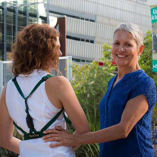 USC Master of Science graduate Lorraine Josey runs a Coast-based business based on a therapy device she designed called the BackTone Posture Corrector.
