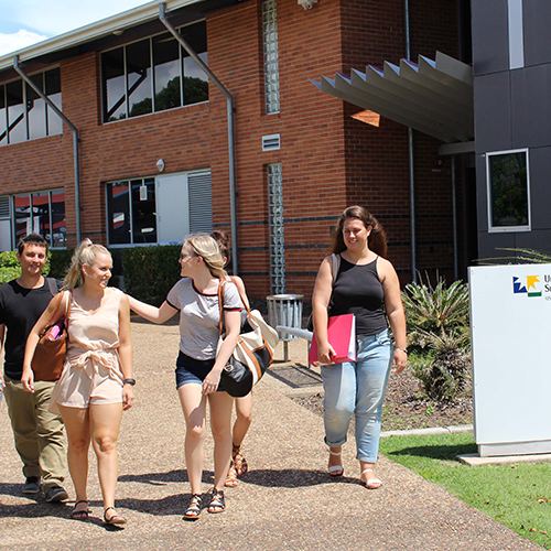 Students at USC Fraser Coast