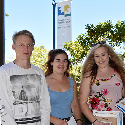 Maryborough State High School 2016 graduates (L-R) Khody Birt, Chloe Birt and Stacey Benson will start their higher education journey together at USC Fraser Coast